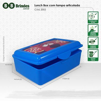 Imagem de Marmita Lunch Box com tampa articulada