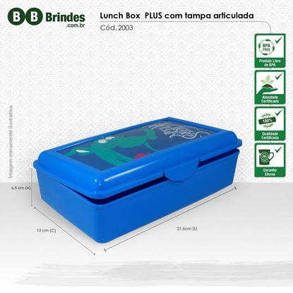 Imagem de Marmita Lunch Box Plus com tampa articulada